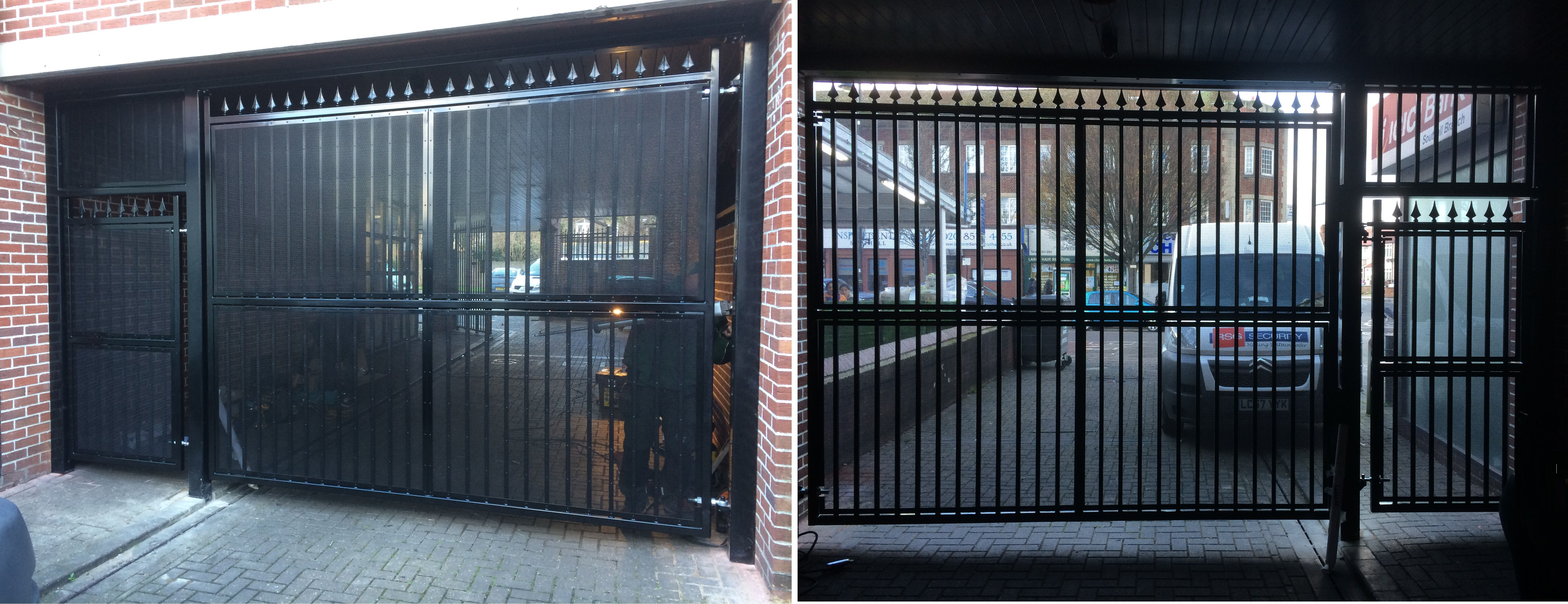 Our Rsg3400 Automated Car Park Gate With Rsg3200 Pedestrian Ed To Residential Apartments In Southhall