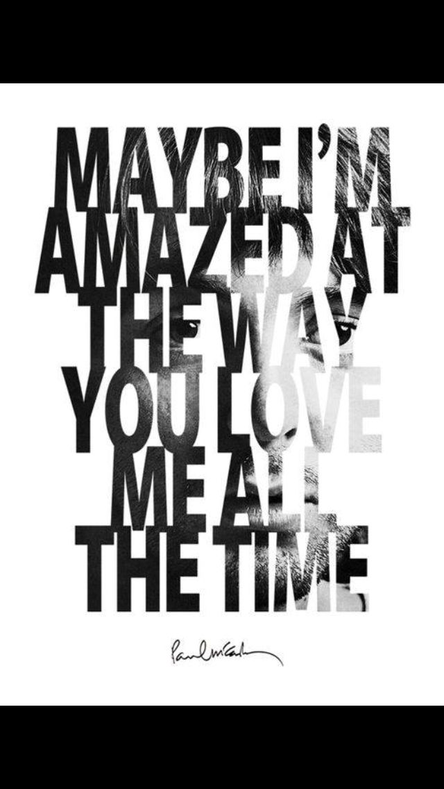 paul mccartney be i m amazed the best song he ever wrote