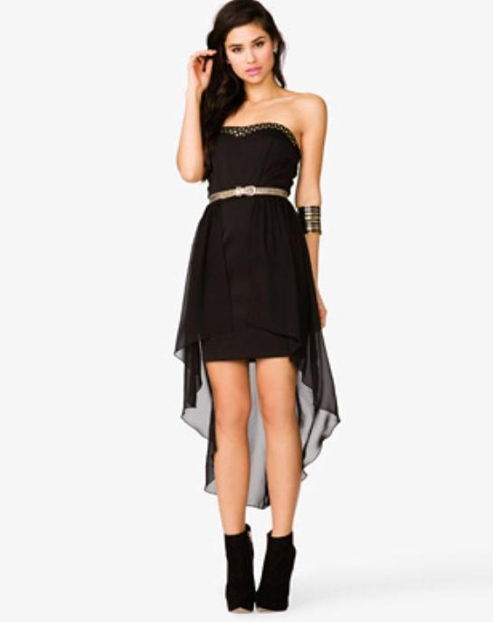 Cute Black High Low Forever 21 Dress