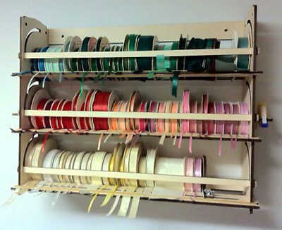 Ribbon Holder Storage Rack Organizer 110 Spools Stackable Desk
