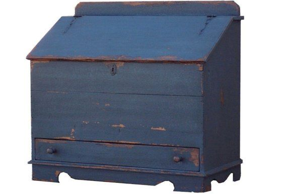 Blanket Chest Primitive Painted Early American Colonial Etsy