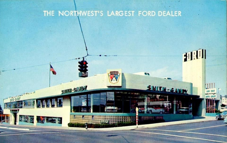 smith gandy ford seattle 1956 vintage car dealers gas stations pinterest seattle. Black Bedroom Furniture Sets. Home Design Ideas