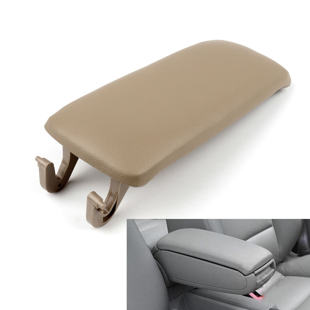 PU Leather Center Console Armrest Cover Lid