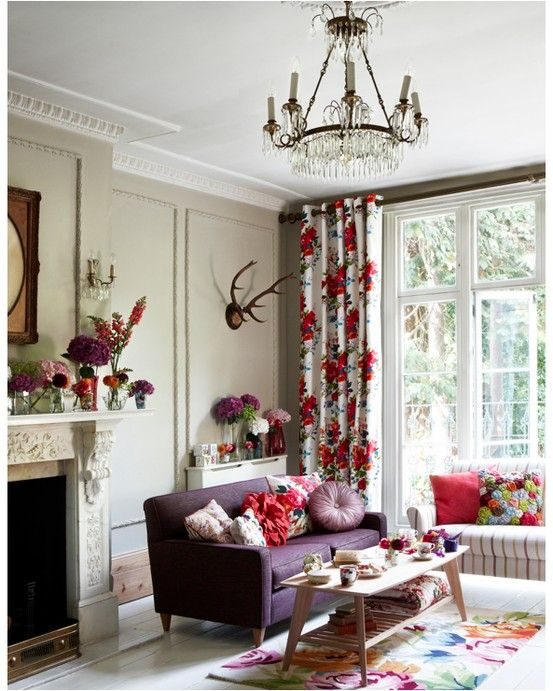 Floral Living Room All Those Flowers Decor Decorating Your