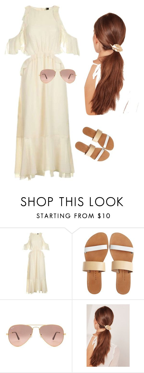 """Practical Femininity"" by dannie-trudeau ❤ liked on Polyvore featuring Topshop, Isapera, Ray-Ban and Missguided"