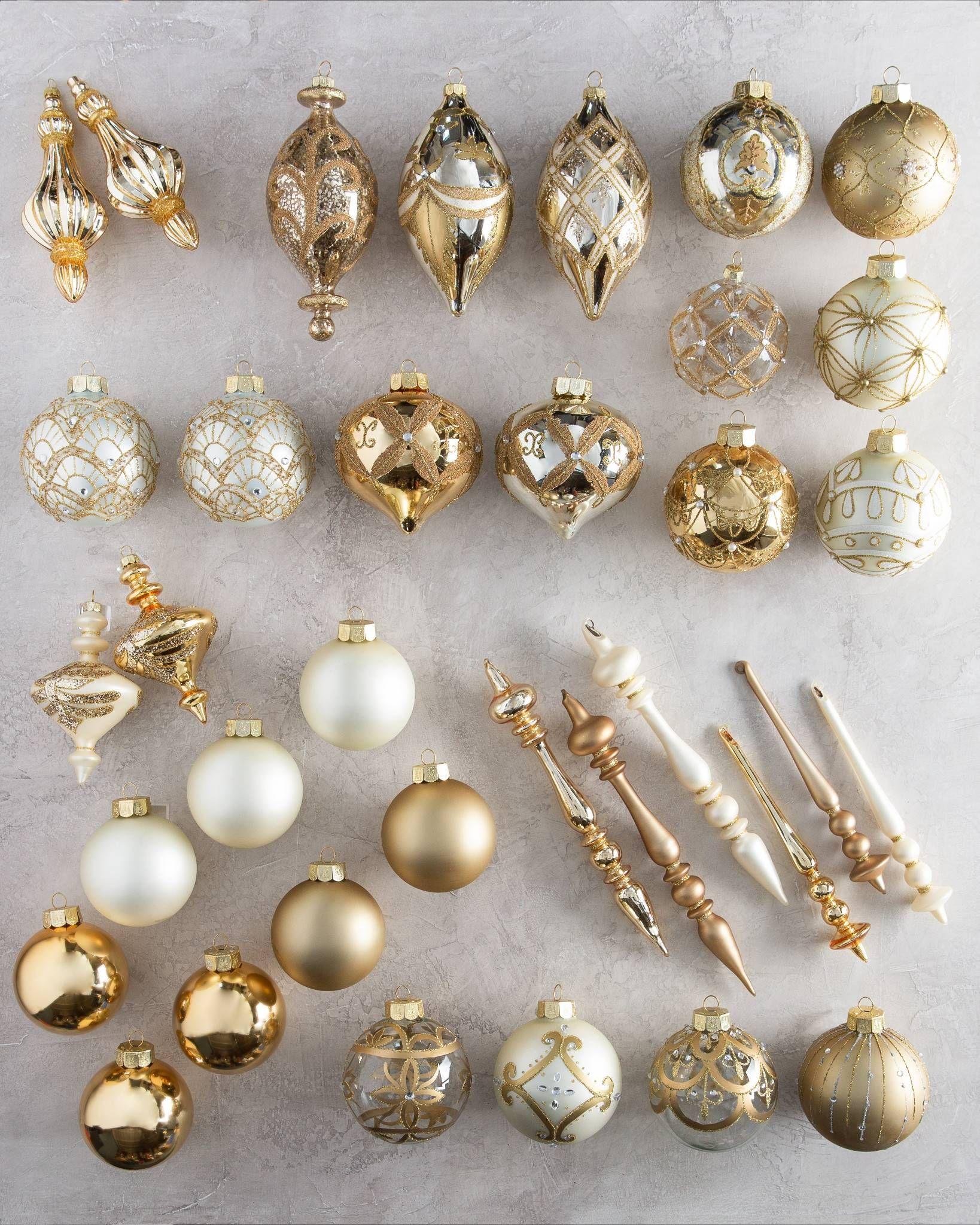 Biltmore Legacy Christmas Ornament Set Balsam Hill Elegant Christmas Trees Silver Christmas Ornaments Ornament Set