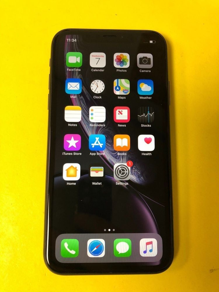 Apple Iphone Ten Xr 64gb Black Verizon Unlocked Great