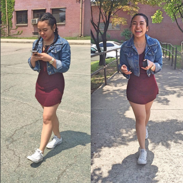 knee length tight dress with jean jacket
