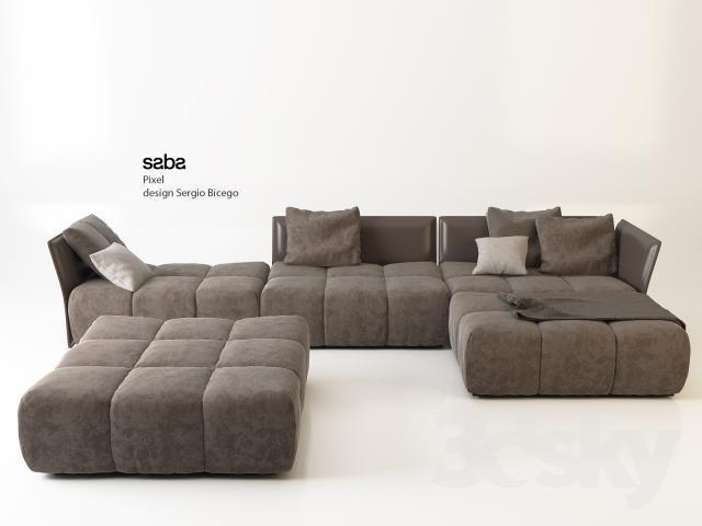 Download Saba Pixel Sofa Free 3D Model For Printing