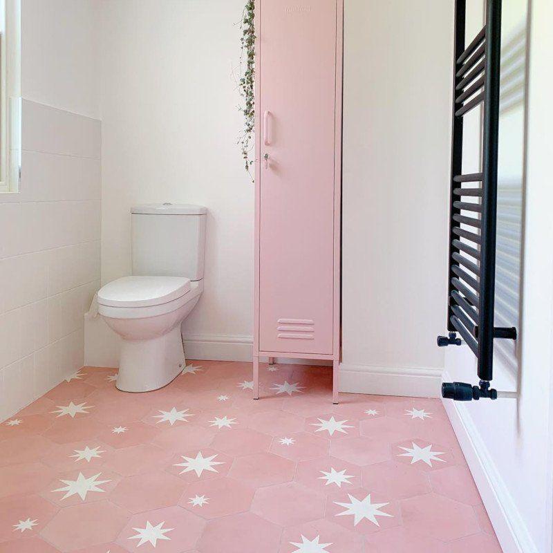 Moroccan Encaustic Cement Hexagonal Pink in 2020