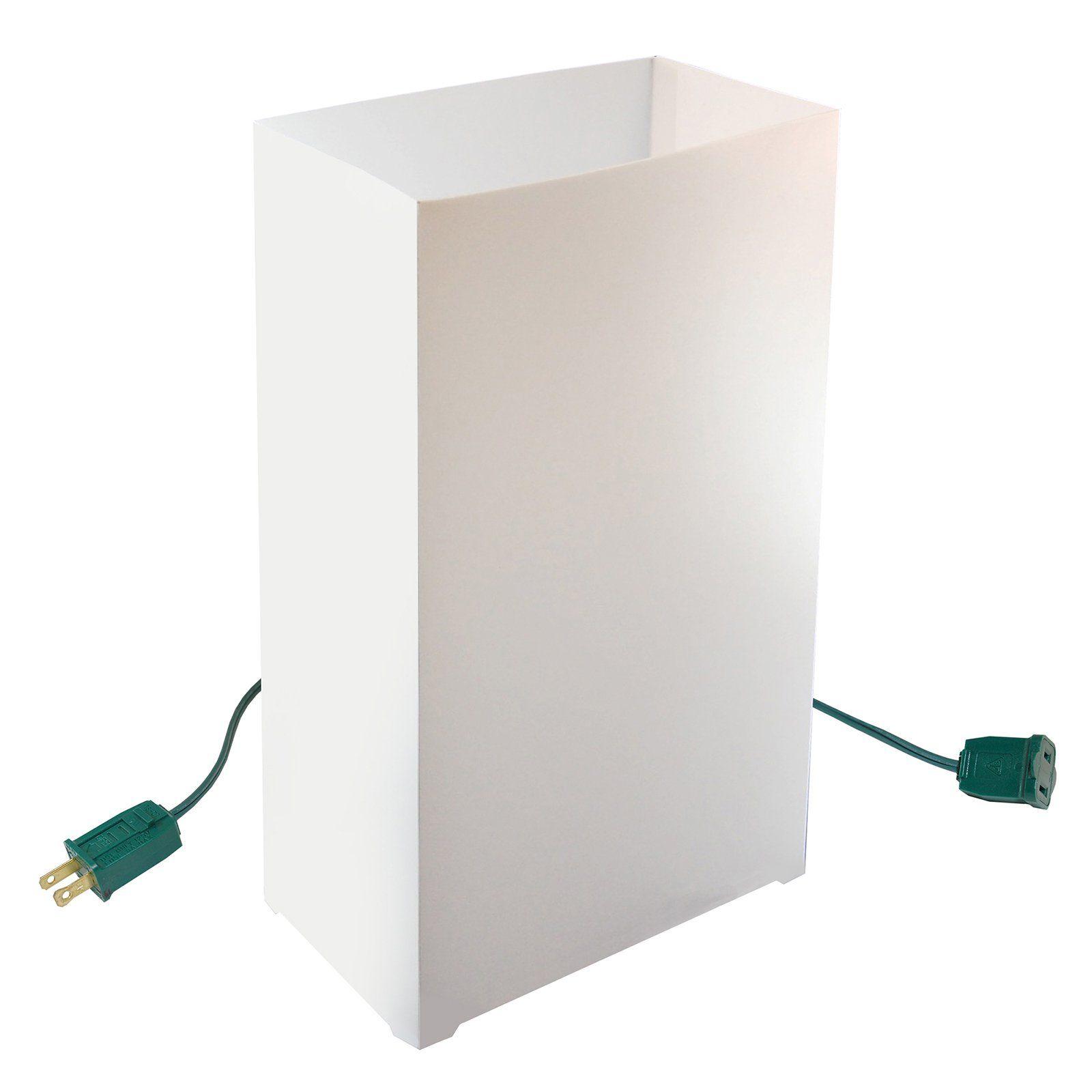 Best Lumabase Electric White Luminaria Kit Set Of 10 32010 640 x 480