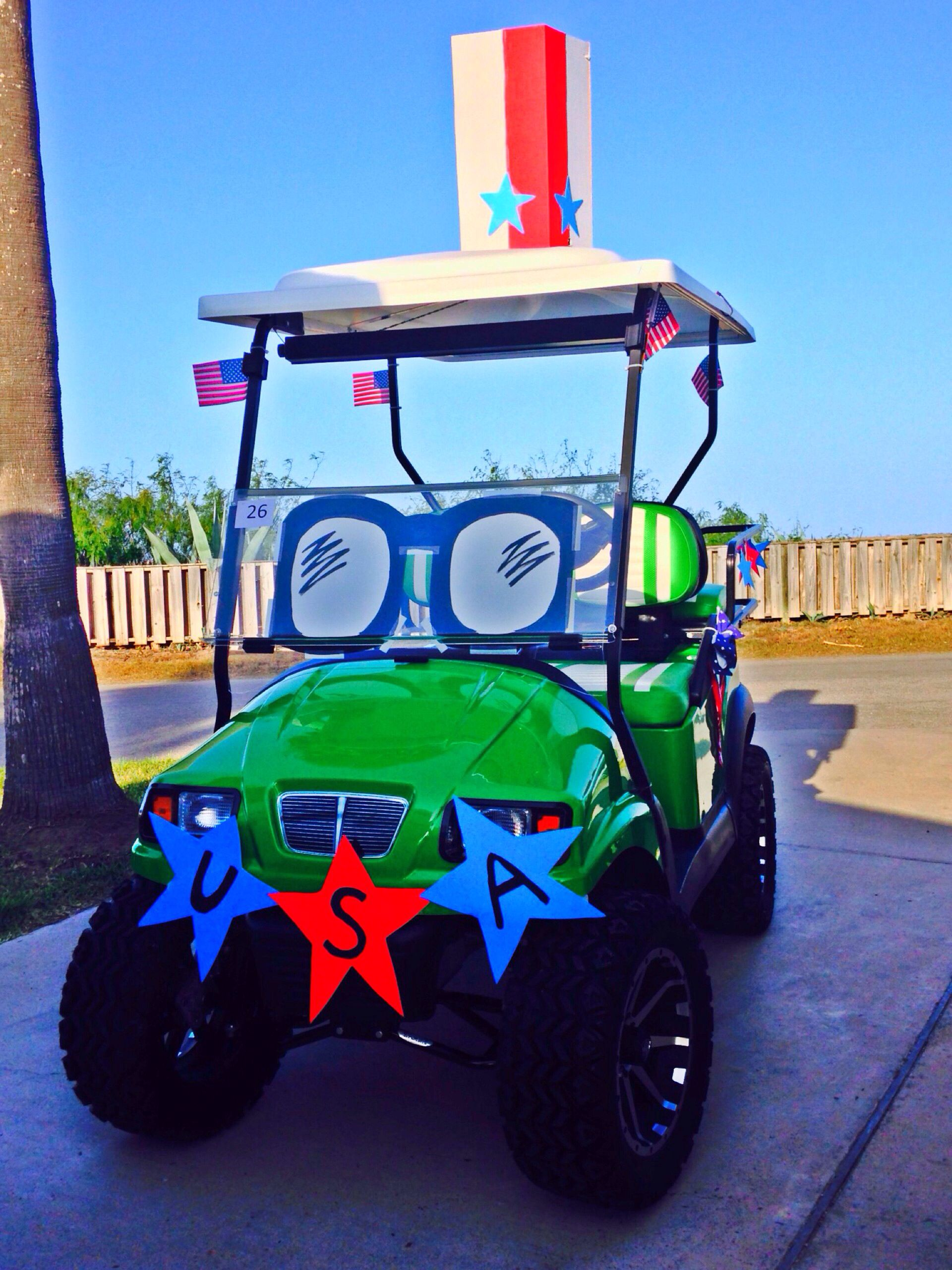 Patriotic golf cart | Float in 2018 | Pinterest | Golf carts, Golf on