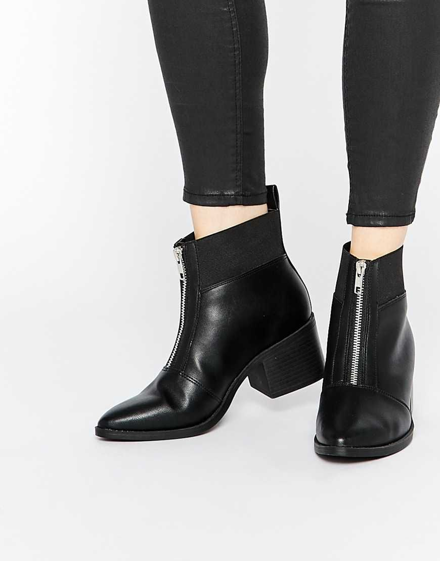 Buy Women Shoes / New Look Zip Front Ankle Boots