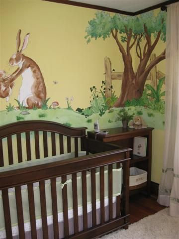 Guess How Much I Love You Mural This Will Definitely Be My Future Baby Room Book