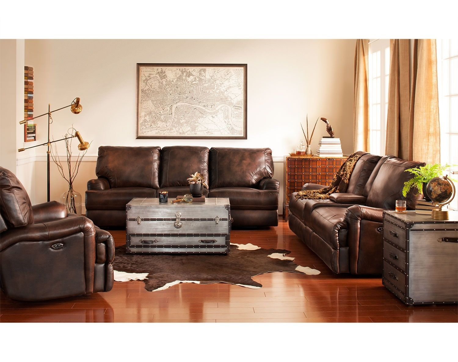 The Kingsway Collection Brown Furniture Living Room Sets Furniture Power Reclining Sofa #power #living #room #set