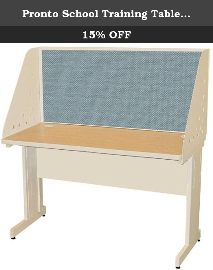 Pronto School Training Table With Carrel And Modesty Panel Back 48W X 24D Putty Finish And Slate Fabric. The Pronto desk carrel from Marvel is ideal for creating private space in the office, school classrooms and libraries. These study carrels will suit as computer or study carrel furniture. These classroom tables feature a steel modesty panel. The privacy carrel includes a tackable upholstered inside back that minimizes sounds. Steel legs and panel are finished with a scratch resistant…