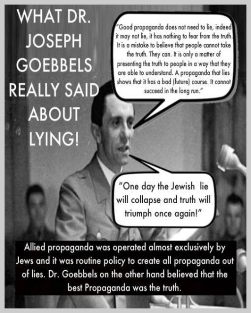 Goebbels Quotes I Love This Posti'm Sick And Tired Of All The Blatant Lies About .