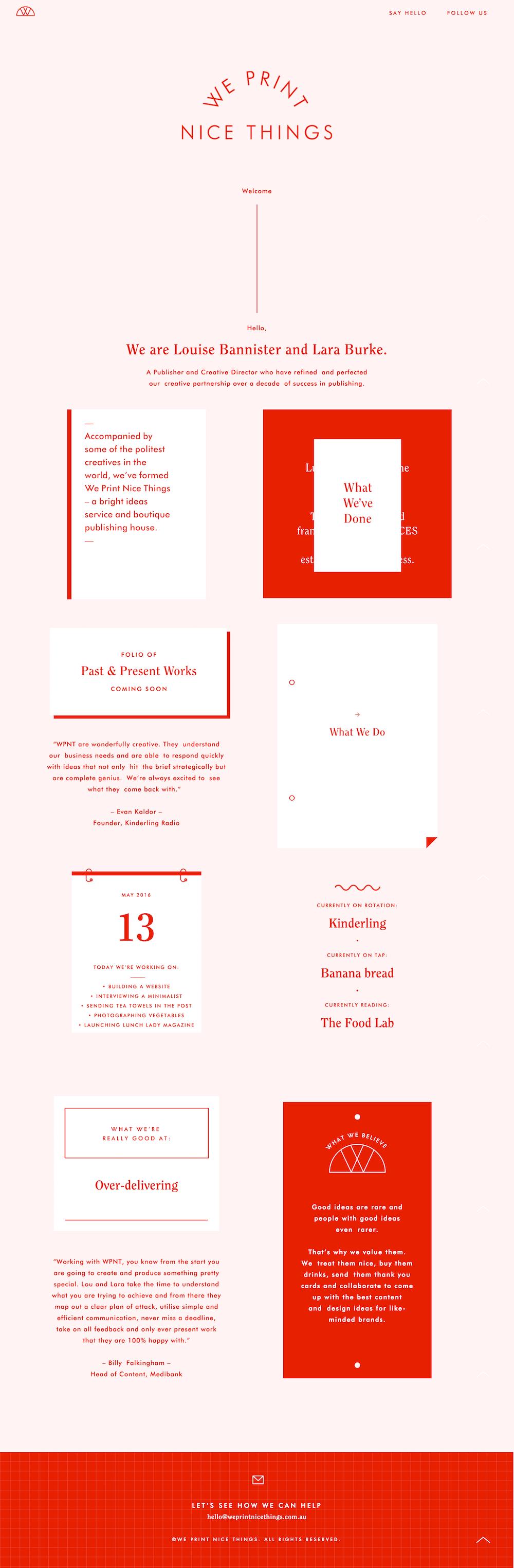 Monotone web design, love this so much.