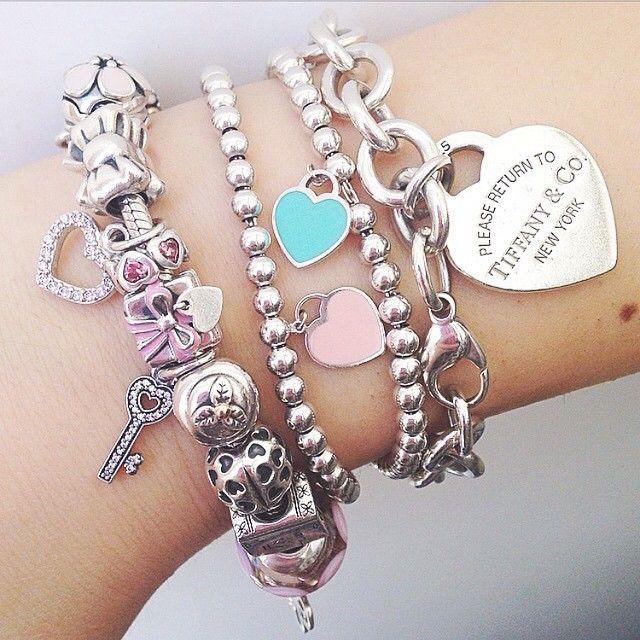 「Some lovely Tiffany   Co. arm candy by  giuliiietta  」 Pandora Jewelry 346b93e2eda