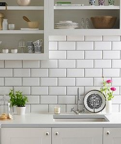 Simple Metro tiles - smart and affordable for whole wall splashbacks in the  kitchen by Topps