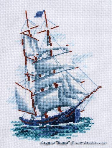 Вышивка крестом корабли 1 - Dimensions, Anchor, Риолис 68