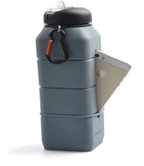 Munkees Sound Bottle-Light Grün Sport Trinkflasche Camping Flasche Schule Reise