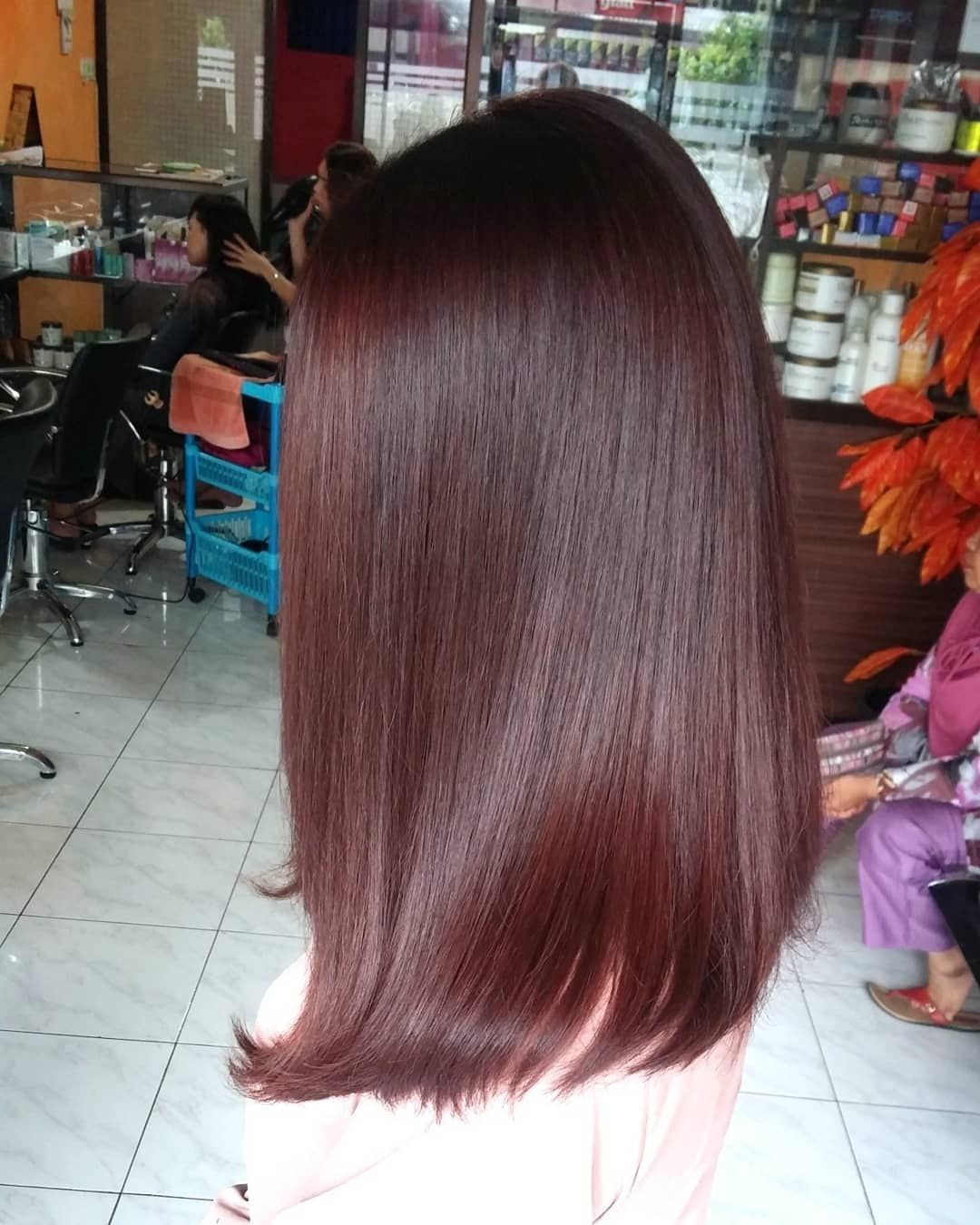 Hair Color Red Chocolate by @wenkgo. Love the result 😍😘😘👍👍