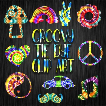 Groovy Tie Dye Clip Art – 30 Png Clipart Images