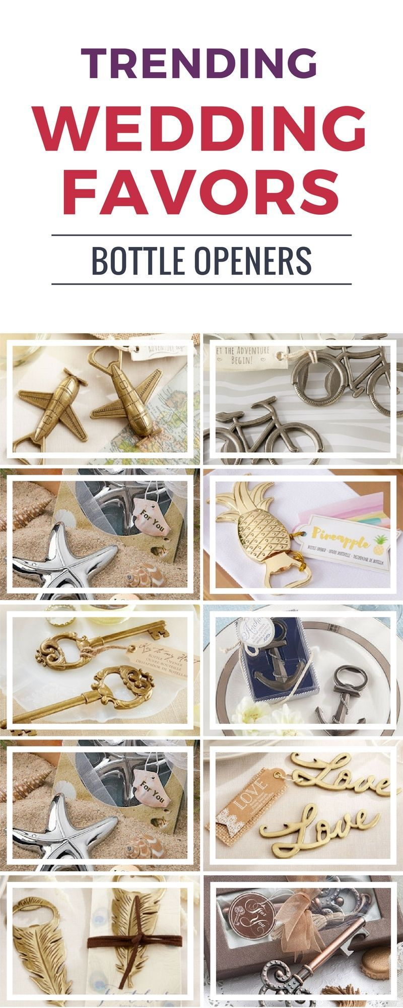 These trending bottle openers wedding favors are great! | Wedding ...