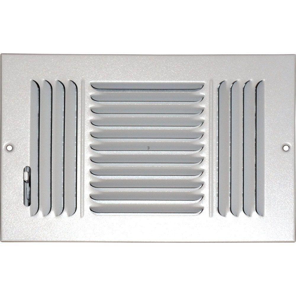 Speedi Grille 10 In X 8 In Ceiling Sidewall Vent Register White