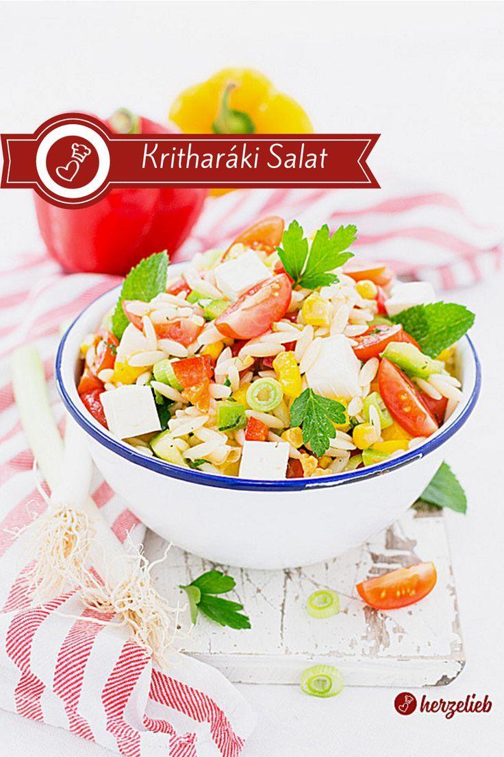 Bifteki vom Grill mit Kritharáki Salat - Rezept für einen griechischen Abend
