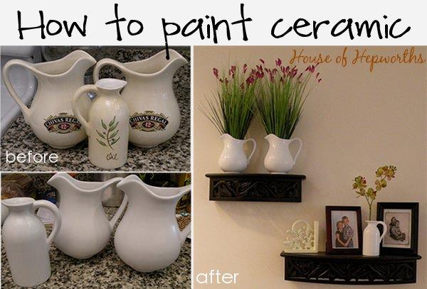 How To Paint Ceramic Ceramic Painting Diy Painting Spray Paint Ceramic