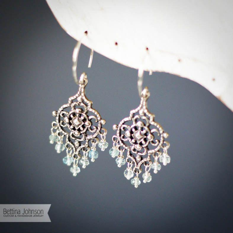 Sterling silver aquamarine chandelier earring style bags and sterling silver aquamarine chandelier earring aloadofball Choice Image
