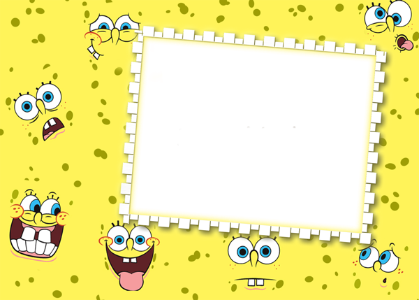 SpongeBob PNG Kids Transparen Frame | Designs | Pinterest ...