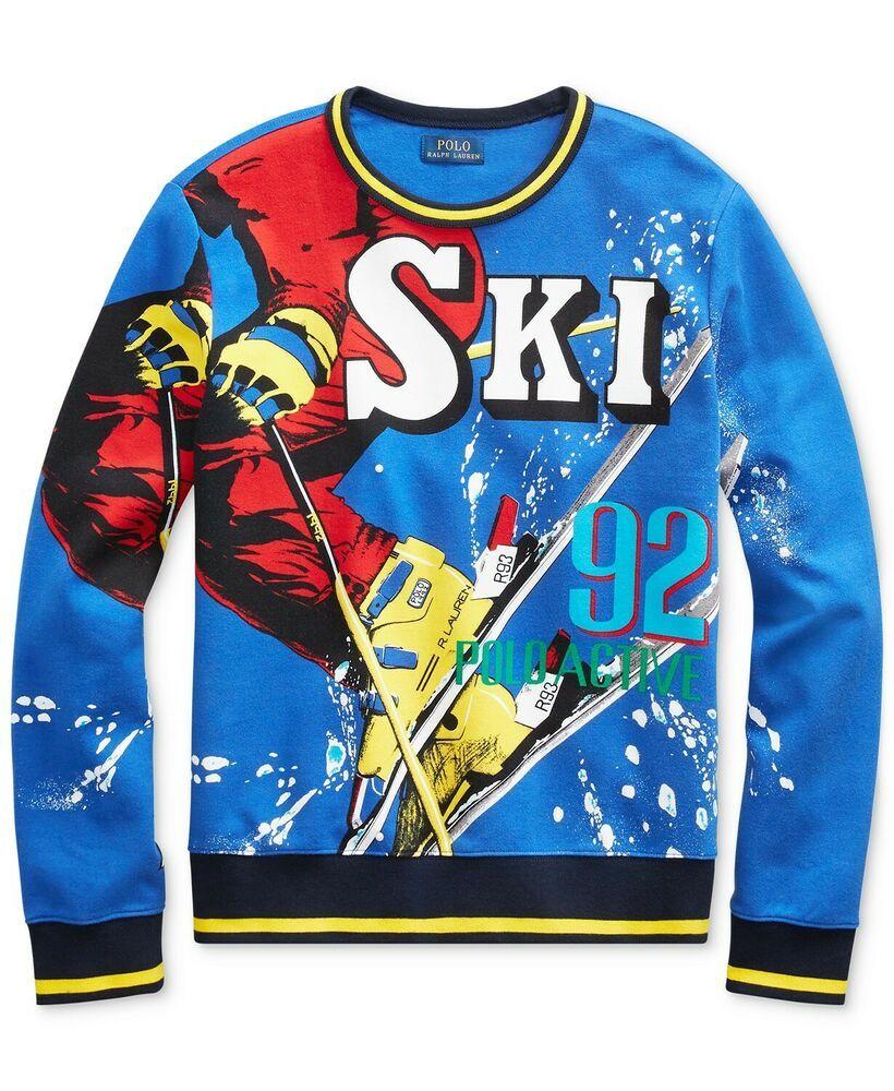 Ralph 92 Lauren Ski Downhill Sweatshirt Polo Tech Sweater Hi Skier Y6fgvby7