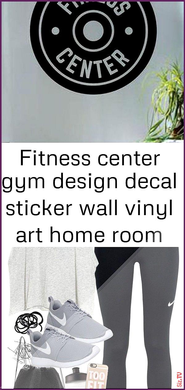 Fitness center gym design decal sticker wall vinyl art home room decor 6 Fitness center gym design d...