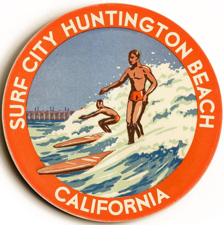 Surf City Huntington Beach Custom Sign Vintage Signs