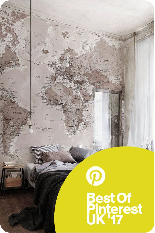 Neutral shades world map wallpaper mural pinterest bedroom regional peoples choice winner london neutral shades world map mural bedroom murals wallpaper gumiabroncs Gallery