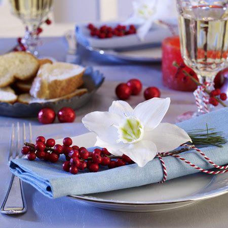 Servietten falten für Weihnachten - 12 Tipps