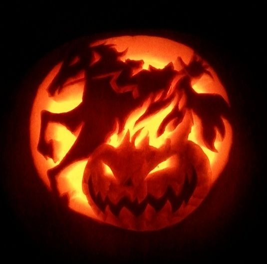 Headless Horseman Pumpkin Template Invitation Templates Pumpkin Template Scary Pumpkin Carving Halloween Jack O Lanterns
