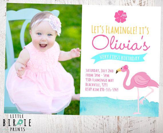 FLAMINGO BIRTHDAY INVITATION printable by littlebirdieprints – Flamingo Birthday Invitations