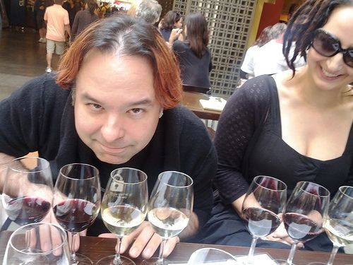 #Cutest Goth Couple Award goes to @John Adams and @evacide - #gothtourage wine at the Ferry BuildingPlease Repin Thanks