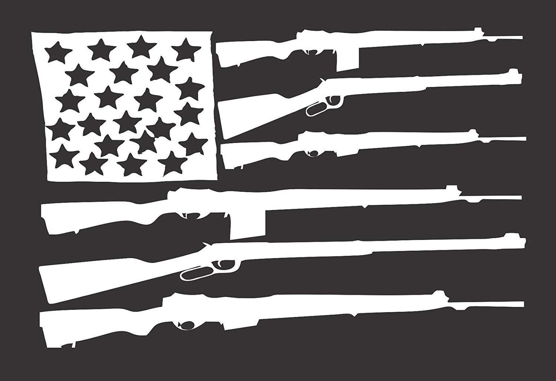 "Go Ahead Make My Day Gun Car Bumper Window Tool Box Sticker Decal 4/""X5/"""
