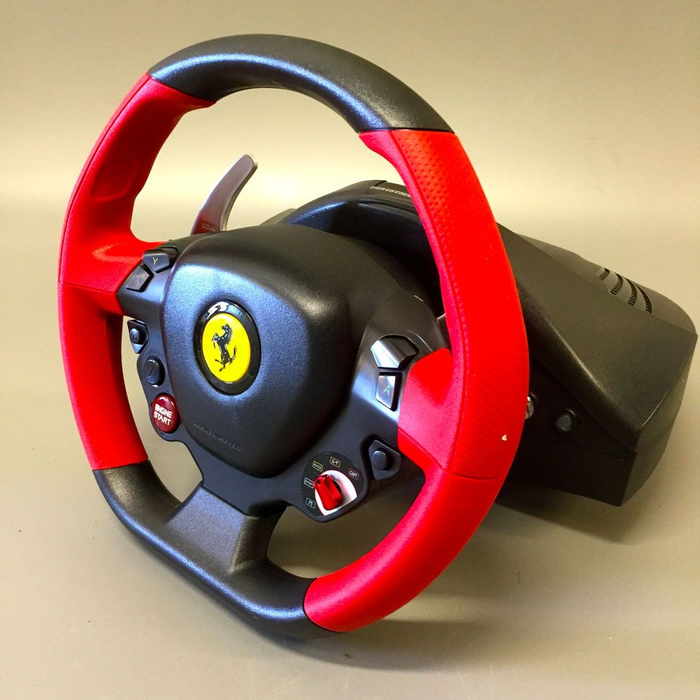 Super Car Thrustmaster Ferrari 458 Spider Racing Wheel For Xbox One Setup