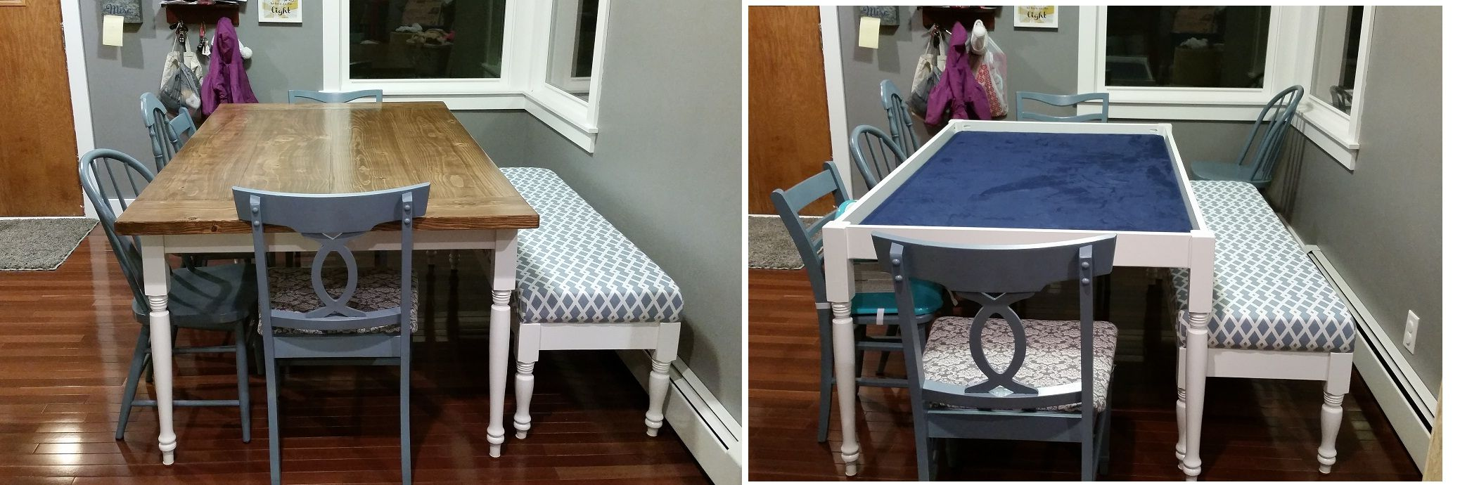 Dining gaming table do it yourself home projects from ana white dining gaming table diy projects solutioingenieria Image collections