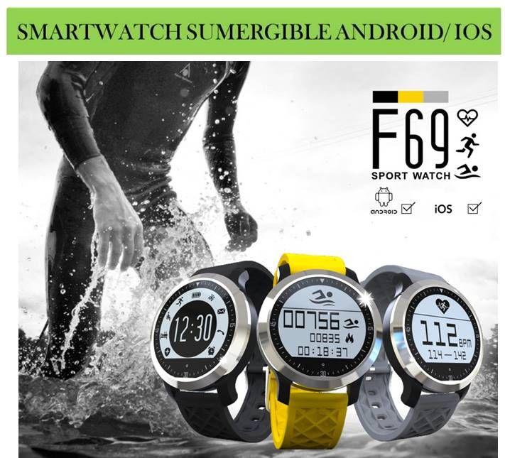 056578ecade9 Relojes inteligentes bluetooth sumergibles para móviles Android e iOs.