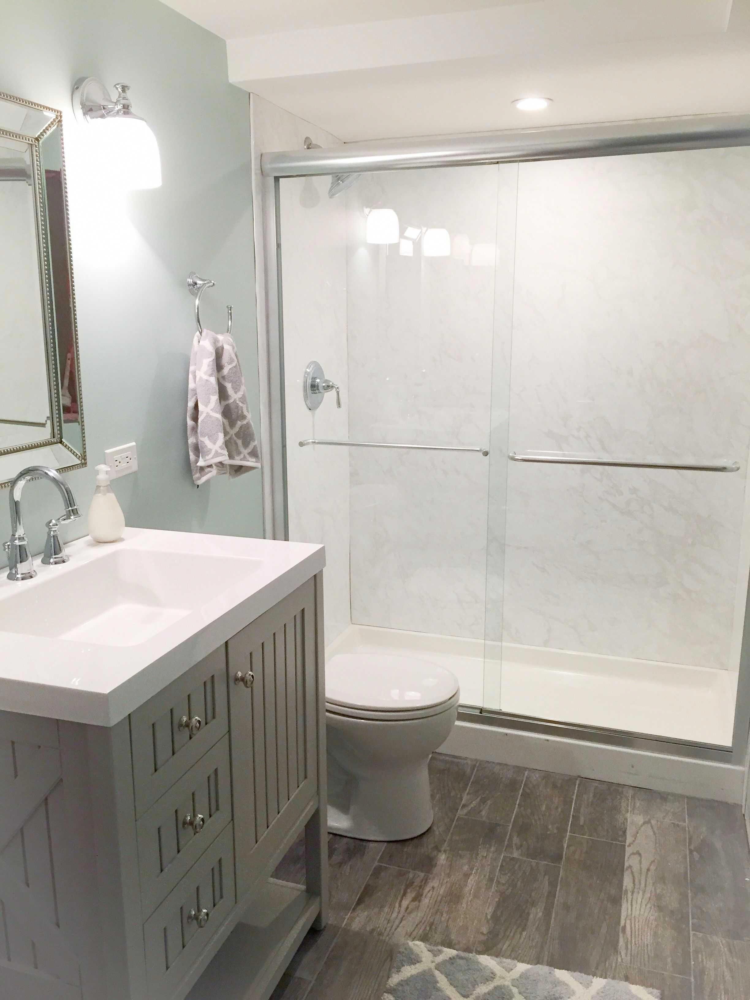 small bathroom rustic #minimalistbathroomkids | Small ...