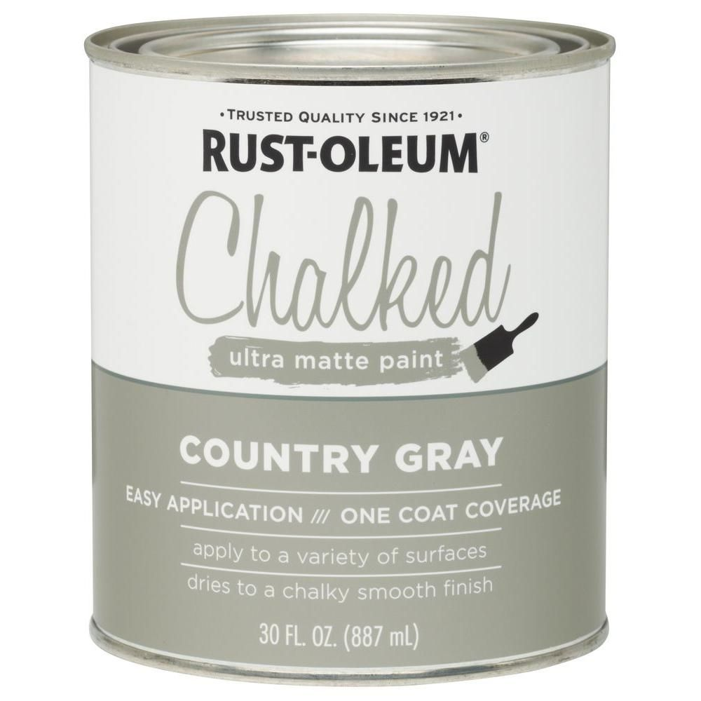 Rust-Oleum 30 oz. Ultra Matte Interior Chalked Paint, Country Gray ...