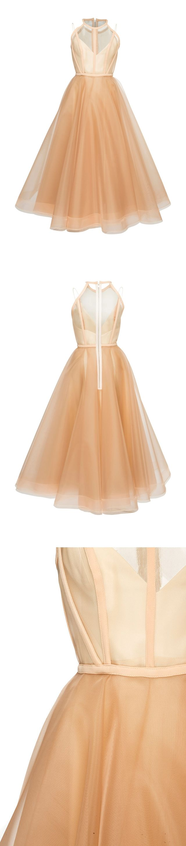 Chic homecoming dress scoop aline tulle sexy tealength short prom