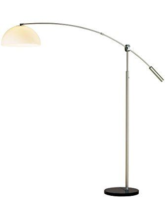Adesso 4134 22 Outreach Arc Lamp Satin Steel Adesso Arc Lamp Lamp Home Gifts